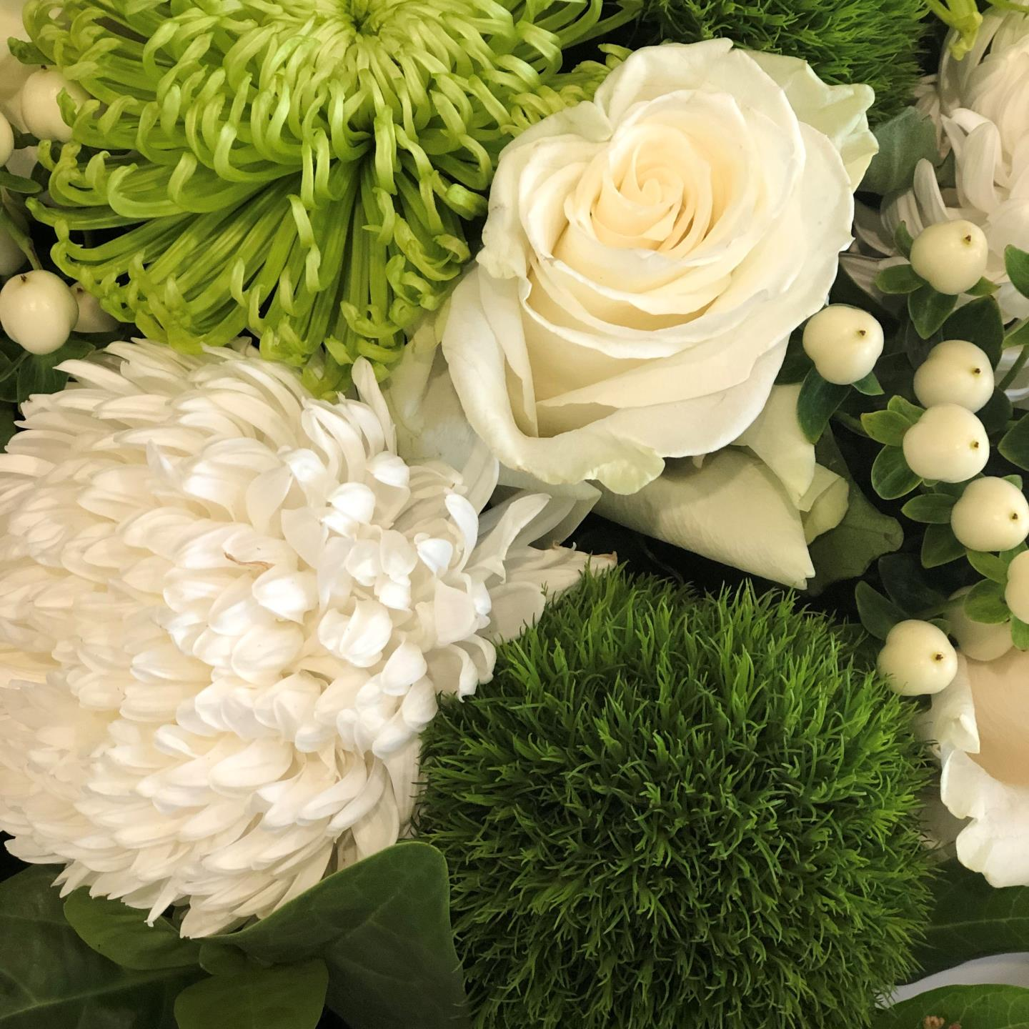 Designer's Bouquet - Green and White